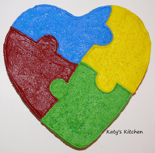 Katy S Kitchen Cookie Cakes For Autism Awareness