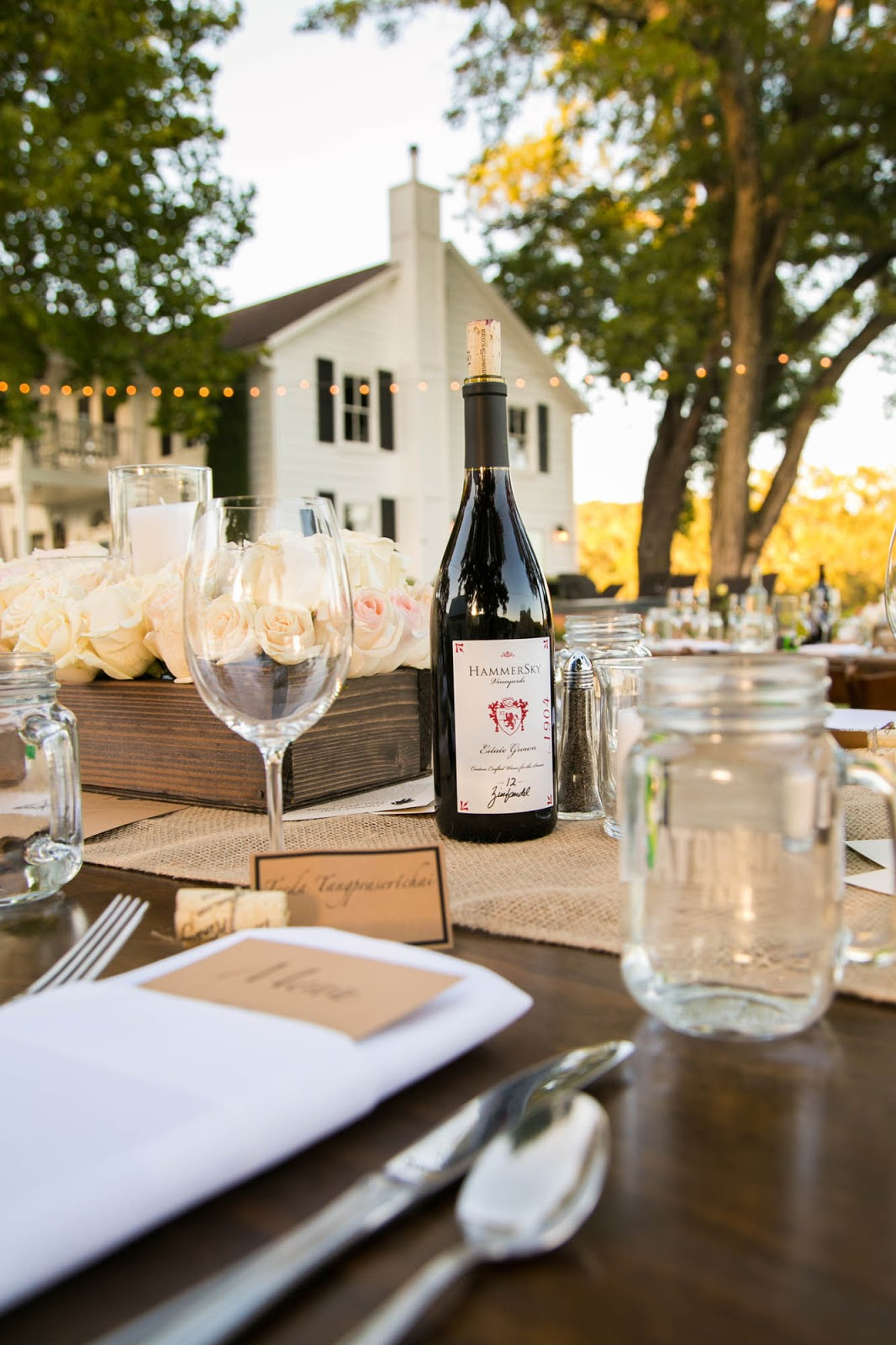 Intimate Outdoor Vineyard Wedding