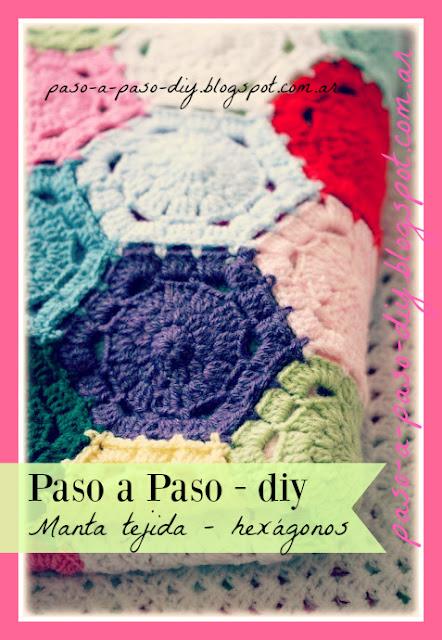 Cómo hacer una Manta tejida de Hexágonos al crochet