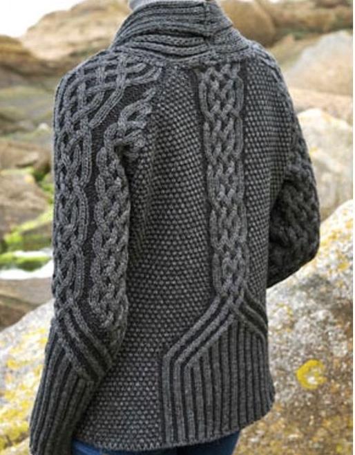 sweter meski reliefowy