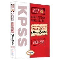 Yediiklim KPSS Genel Yetenek Genel Kültür Konularına Göre Düzenlenmiş Tamamı Çözümlü Çıkmış Sorular Kitabı (2017)