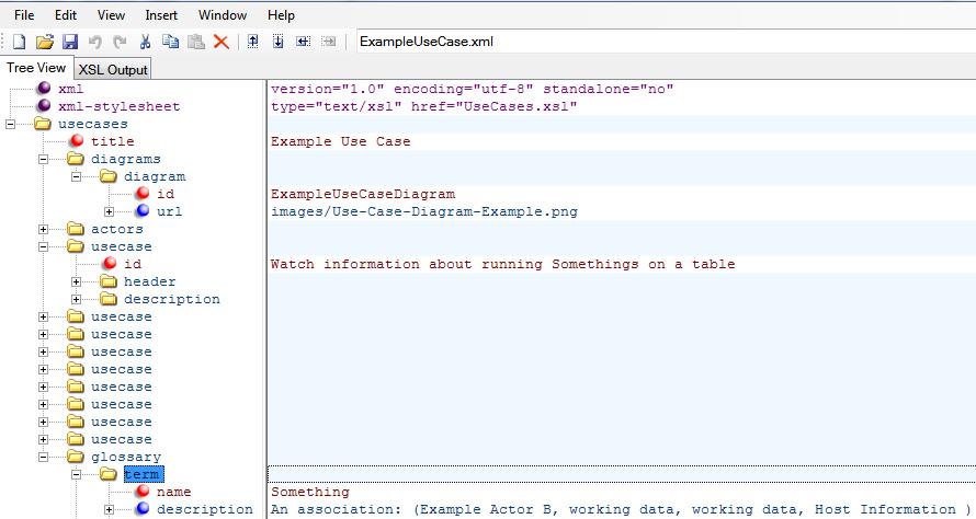 Generating documentation for UML Use Cases (XML,XSL,XSD