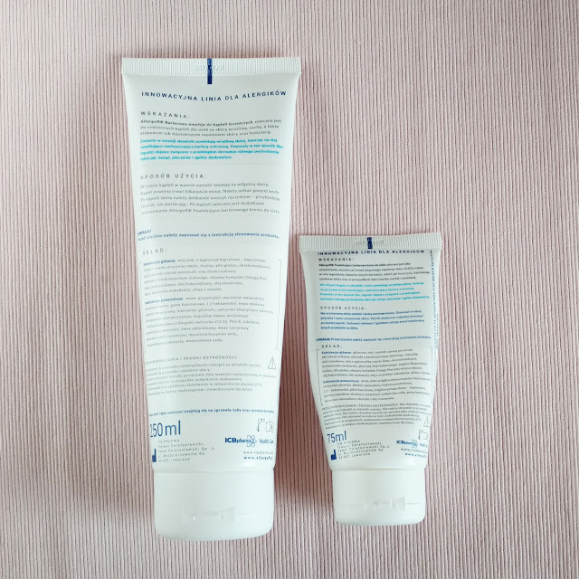 Allergoff Atopy - kosmetyki bez parafiny i kompozycji zapachowej. Emulsja do kąpieli oraz krem powlekająco-barierowy
