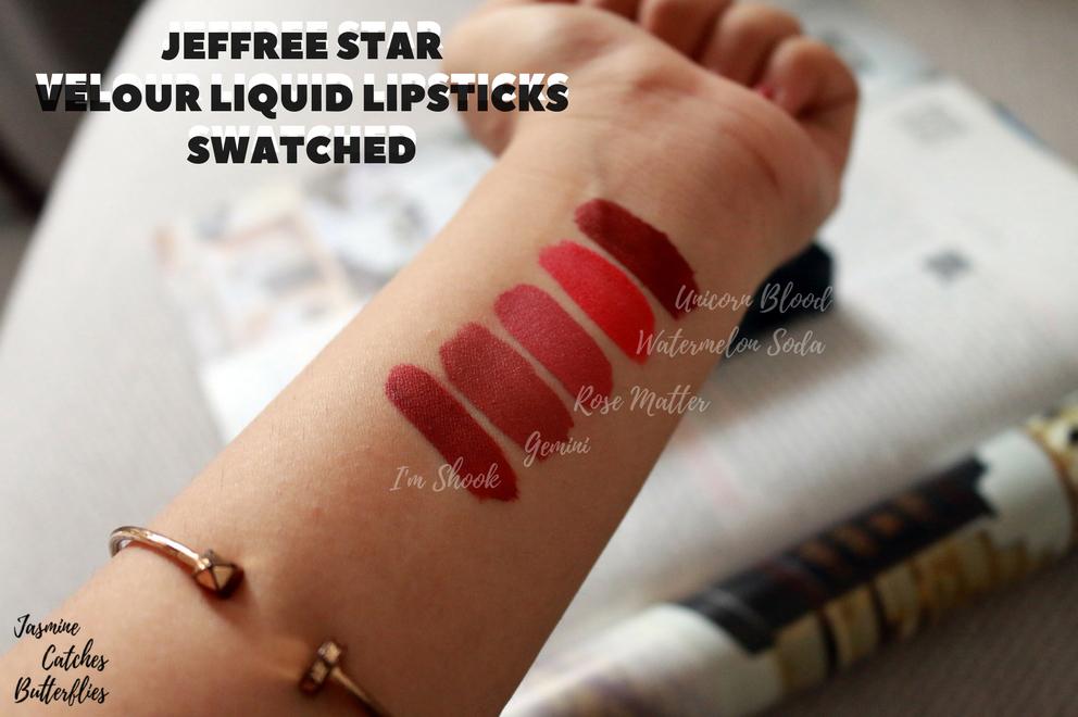 Jeffree Star x Manny MUA I\'m Shook Velour Liquid Lipstick Review