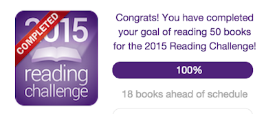 Goodreads 2015 Reading Challenge completed