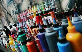 botes de tinta para tatuar