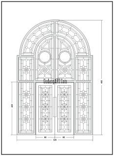desain ornamen pintu masjid