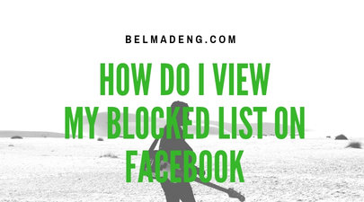 How do I view my Blocked List on Facebook