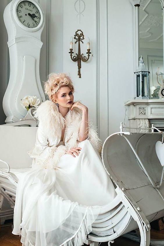 Vanessa lekpa : robe de mariée style marie antoinette par Fleming couture