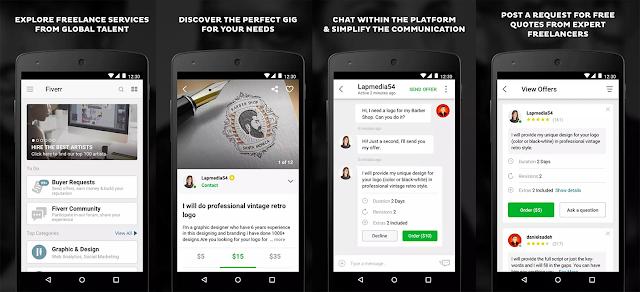 Oferă-ți contracost serviciile și abilitățile folosind aplicația Fiverr