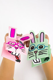 How to make cute and easy paper bunny puppets for a unique kids Easter craft