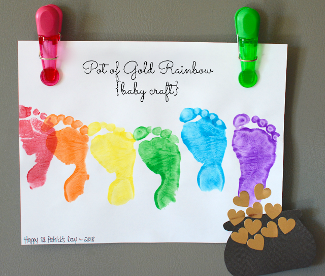Pot of Gold Rainbow Baby Craft | My Darling Days