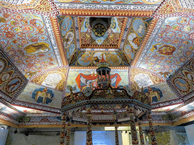 Colorful temple at the POLIN Museum of History of Polish Jews in Warsaw