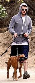 Justin Timberlake With Their Dog