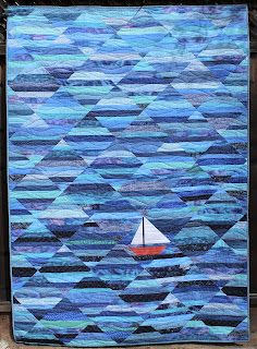 OCEAN QUILT-SAILBOAT QUILT-STRIP QUILT-SCRAP QUILT-EASY QUILT PATTERN