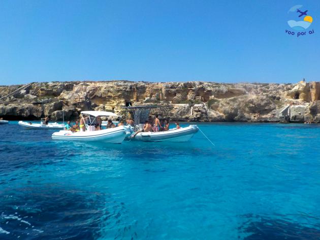 Navegando na ilha de Favignana