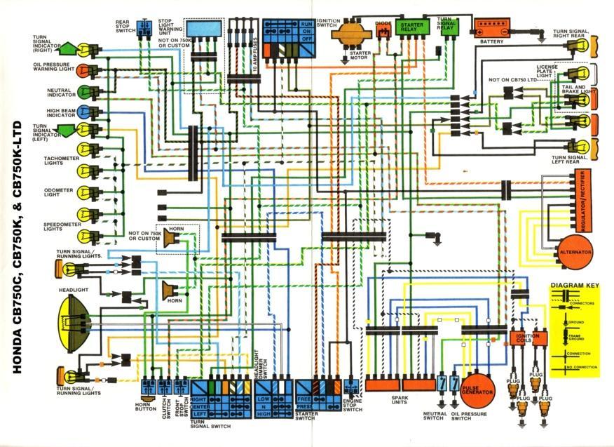 Wiring Diagrams 911  Honda Cb750c  Cb750k  And Cb750k