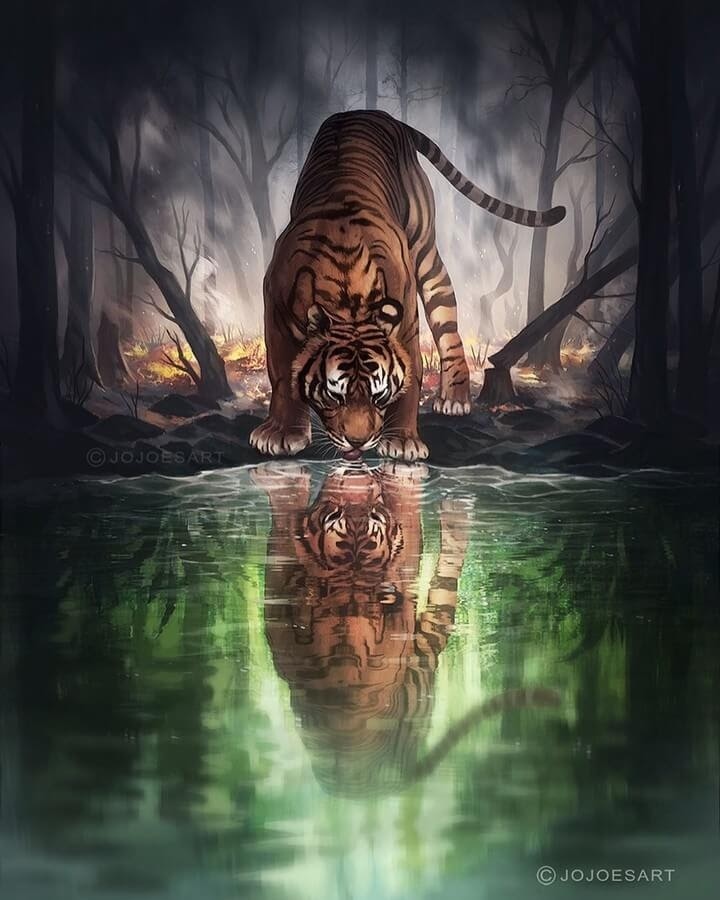 09-Tiger-Reflection-Jonas-Jödicke-Digital-Art-www-designstack-co