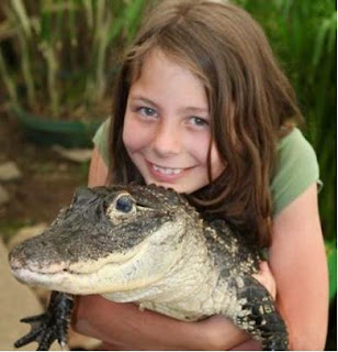 girl with crocodile
