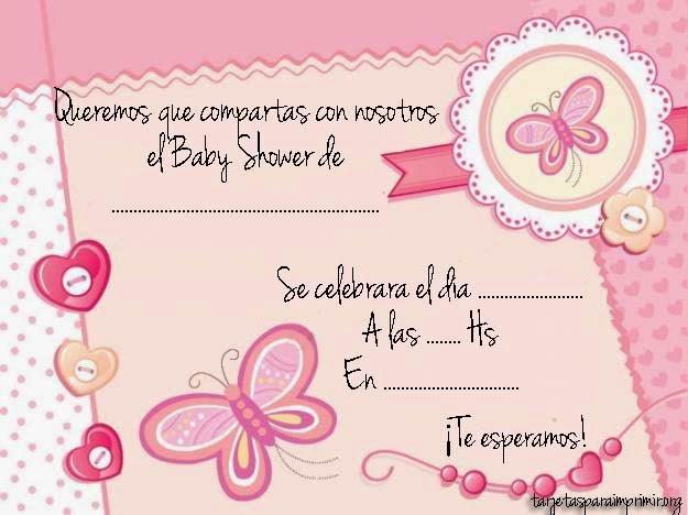 Tarjetas De Invitación Para Baby Shower Niña Baby Shower