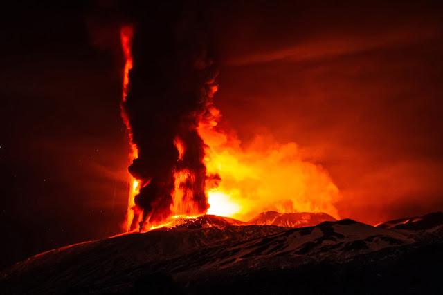 Mount Etna Volcano Eruption