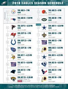 2018 Eagles' Schedule