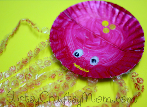 Paper plate octopus is a simple and exciting way to replicate ocean creatures at home. It's bound to be a hit with kids who love their sea creatures.