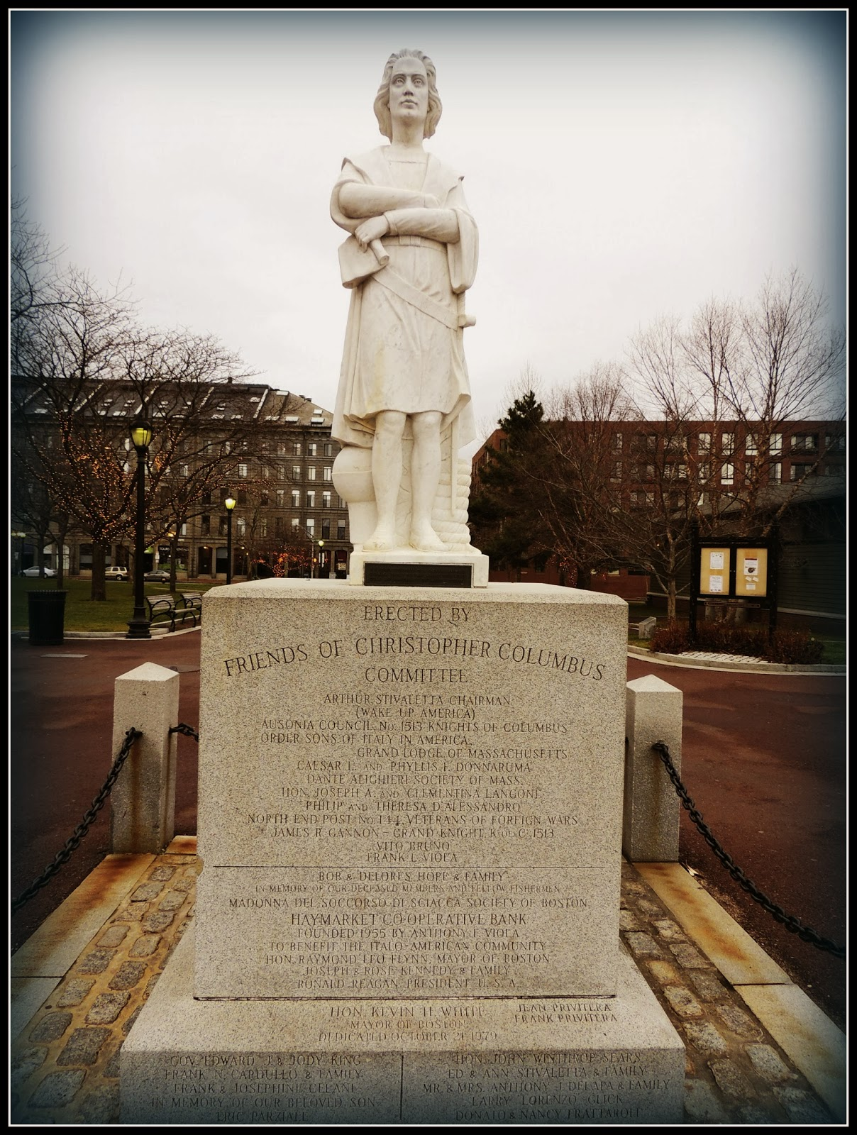 Estatua de Cristobal Colón en Boston
