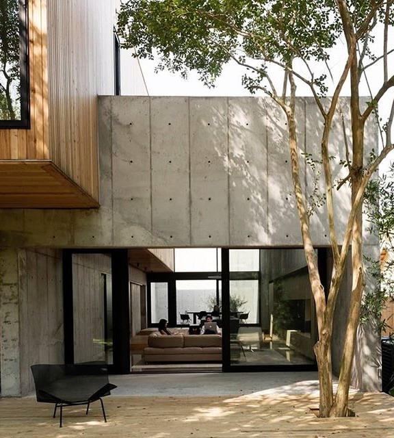 exterior rumah minimalis furniture diluar