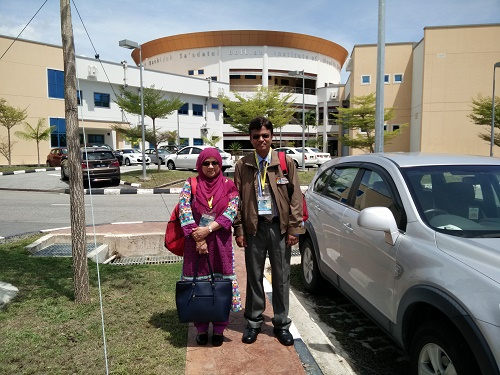 Infront of PAPRSB Institute of Health Sciences with My Wife, MIB-2015, Brunei