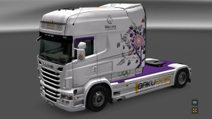 Baku 2015 Skin for Scania RJL Longline
