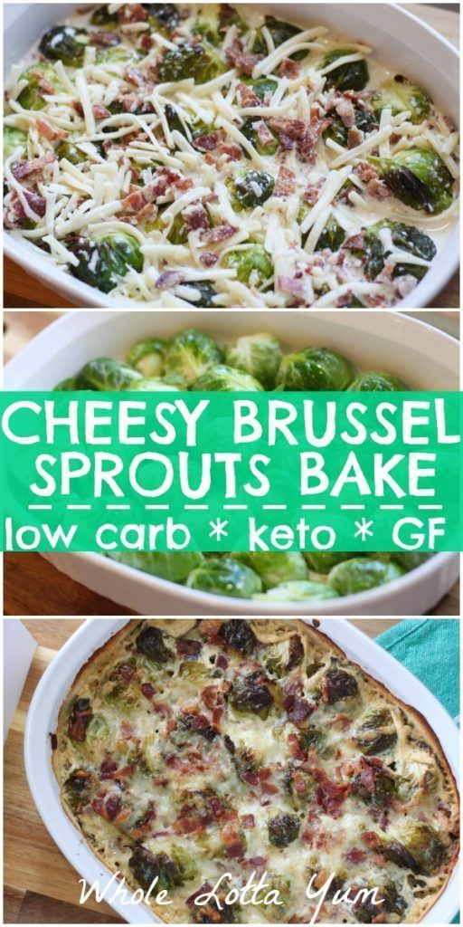 ROASTED KETO LOW CARB BRUSSEL SPROUT GRATIN