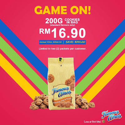 Famous Amos Malaysia 200g Cookies in Bag Discount Price Promo