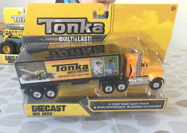 Tonka diecast big rigs yellow truck in box