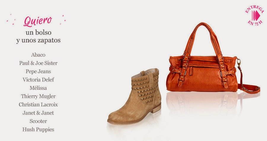 Bolso y zapatos a juego en oferta de distintas marcas