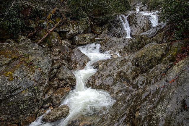 Upper section of Sunburst Falls