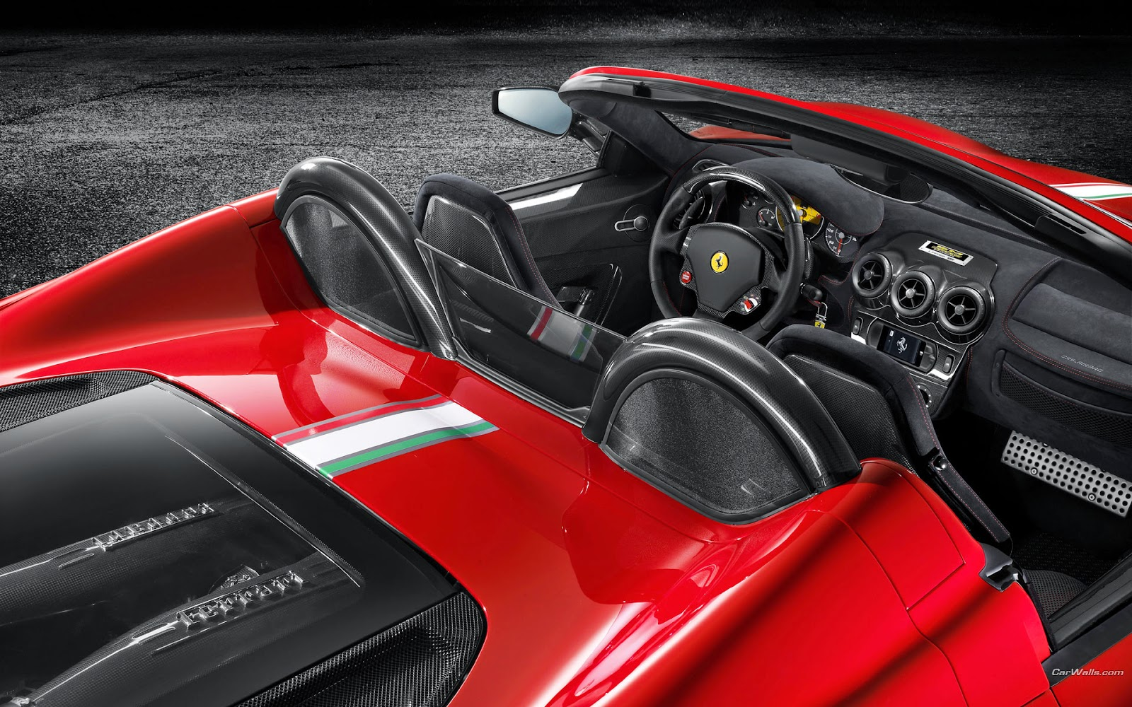 Red Hot Ferrari Interior Wallpapers