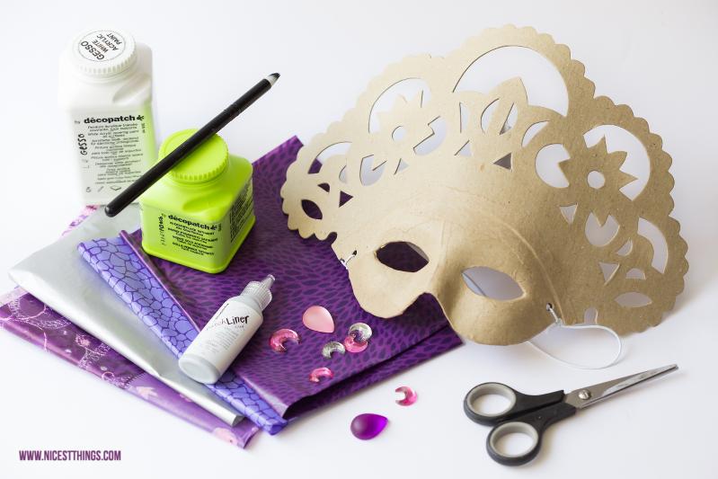Decopatch Maske: DIY venezianische Masken selbermachen Material