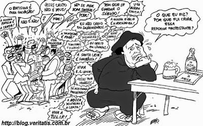 Resultado de imagem para lutero caricatura