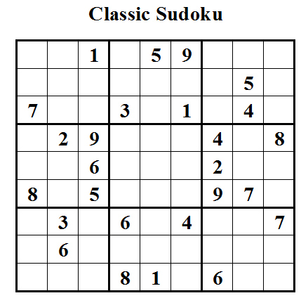Classic Sudoku (Daily Sudoku League #16)