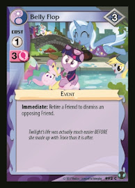 My Little Pony Belly Flop Defenders of Equestria CCG Card