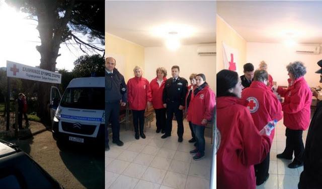 Τρόφιμα από την Αστυνομία στο Περιφερειακό Τμήμα Ελληνικού Ερυθρού Σταυρού Ηγουμενίτσας