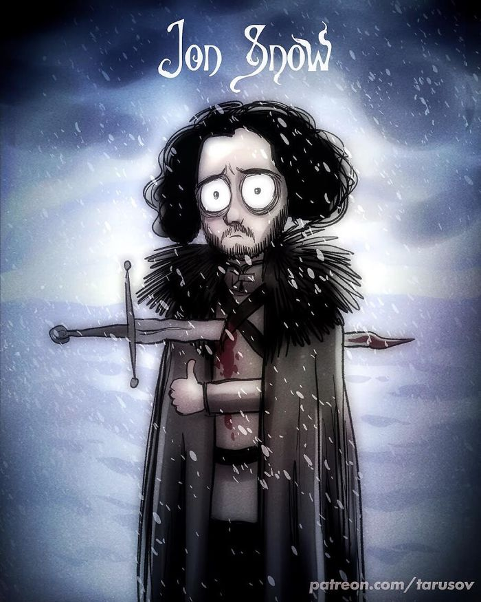 Apa Jadinya Kalau Karakter di Serial Game of Thrones dibikin Sama Tim Burton?