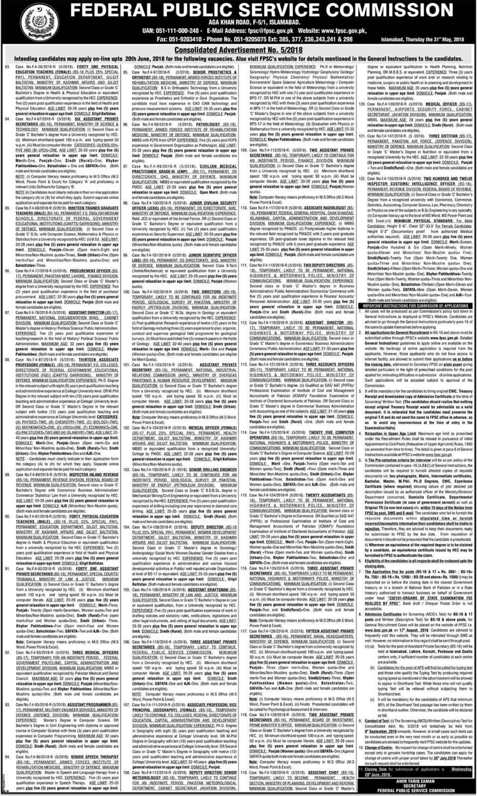 www.fpsc.gov.pk