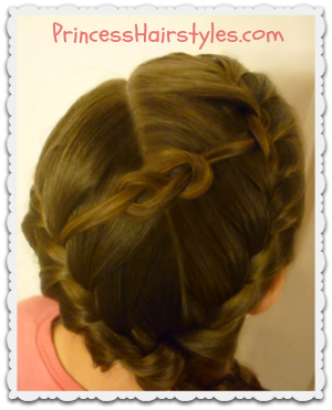 Figure 8 Knot Hairstyle Tutorial