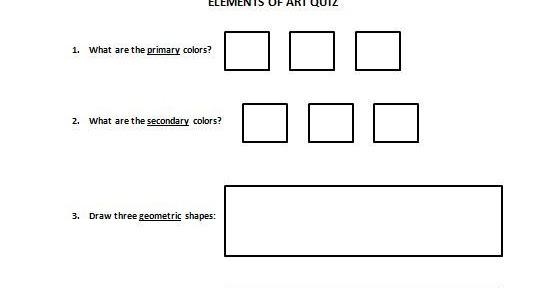 Art Room 104: 2nd Grade Elements of Art Quiz