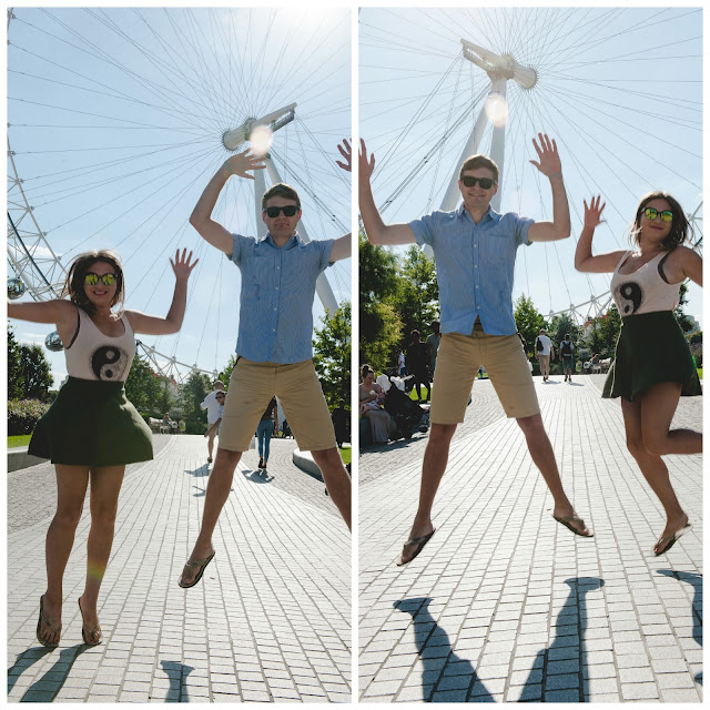 london eye jump photography