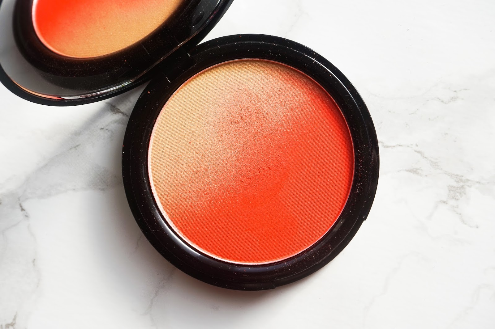 nyx ombre blush feel the heat discoveriesofself blog orange blush dark skin black skin review nataliekayo