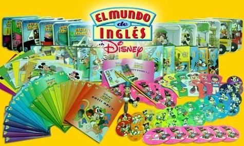 El Mundo de Inglés de Disney [12 DVD5] [12 CD] [Manuales/Cuadernos]