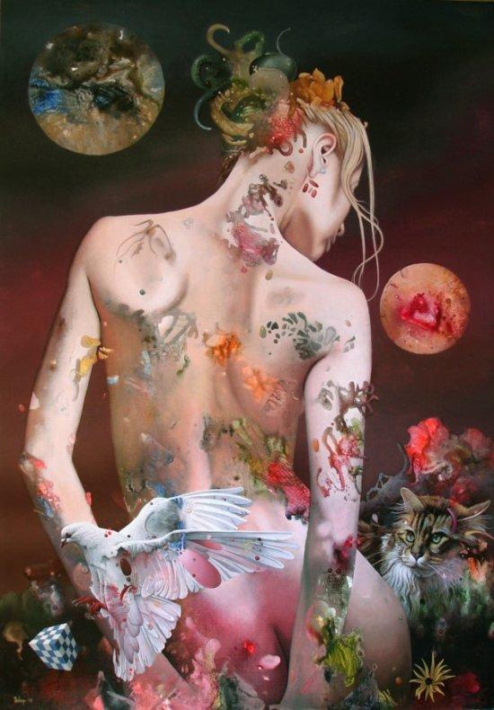 Dragan Ilic Di Vogo arte pinturas realismo fantástico surreais mulheres sensuais provocantes nudez peitos corpo deusas musas